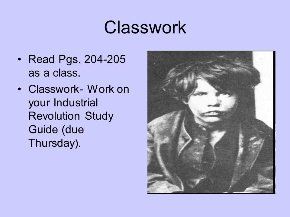 Classwork Read Pgs. 204-205 as a class.