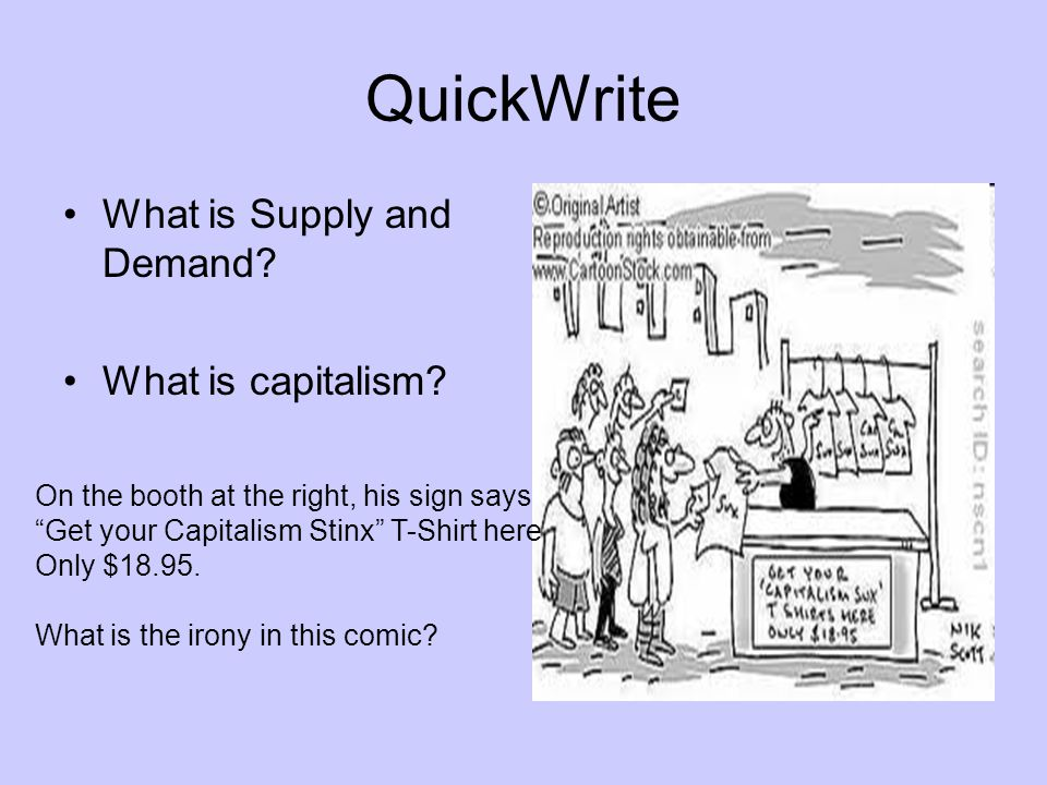 QuickWrite What is Supply and Demand What is capitalism