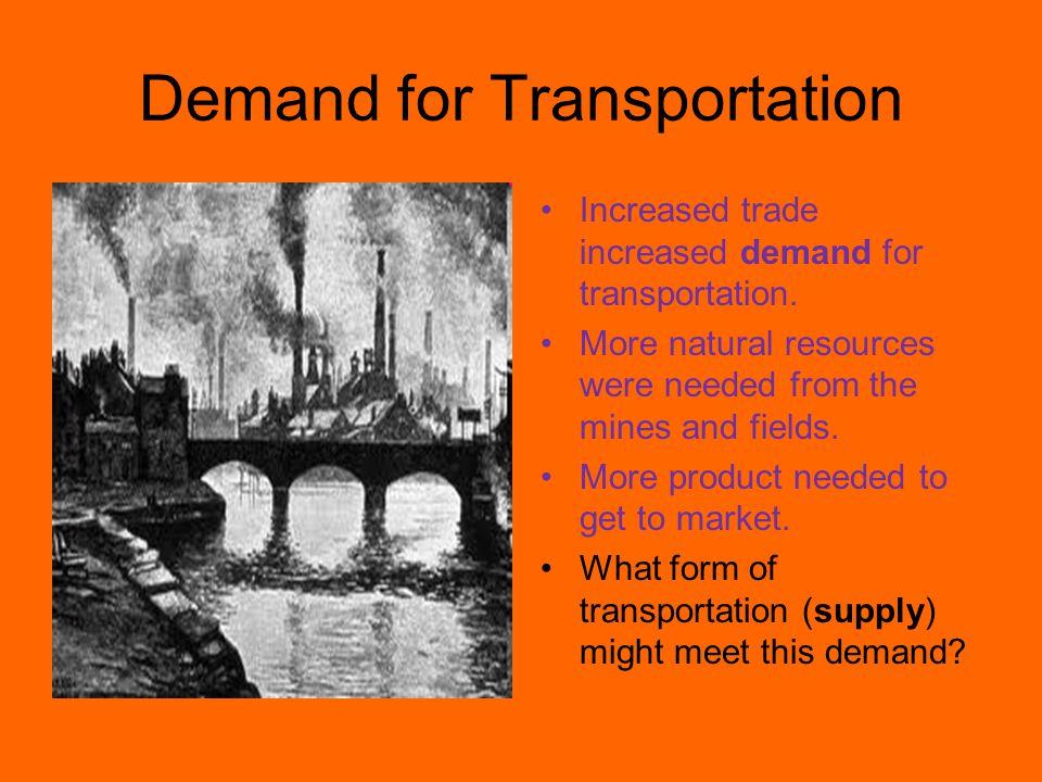 Demand for Transportation