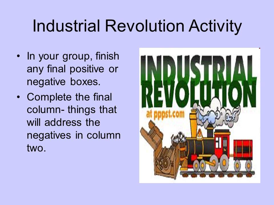 Industrial Revolution Activity
