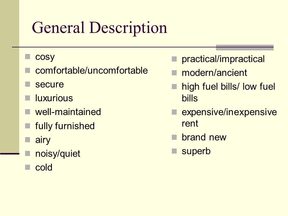 General Description cosy practical/impractical