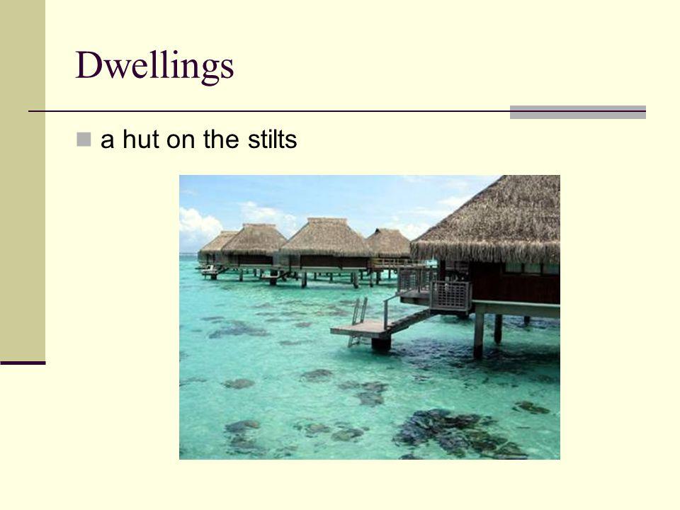 Dwellings a hut on the stilts
