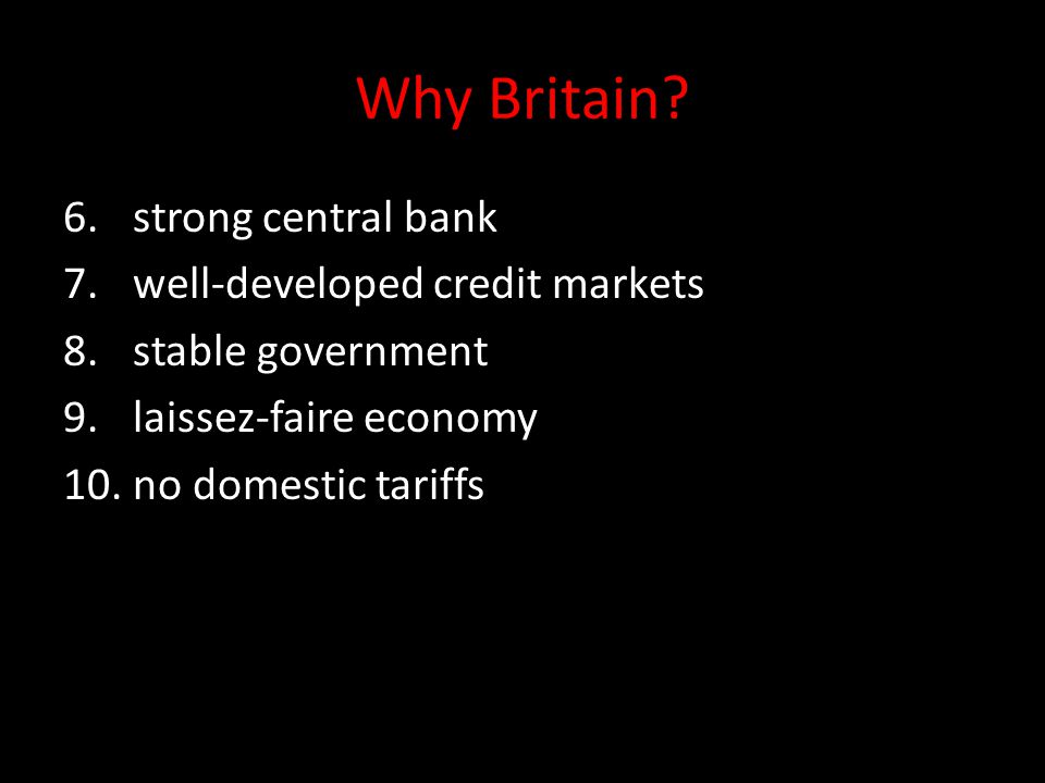 Why Britain strong central bank well-developed credit markets