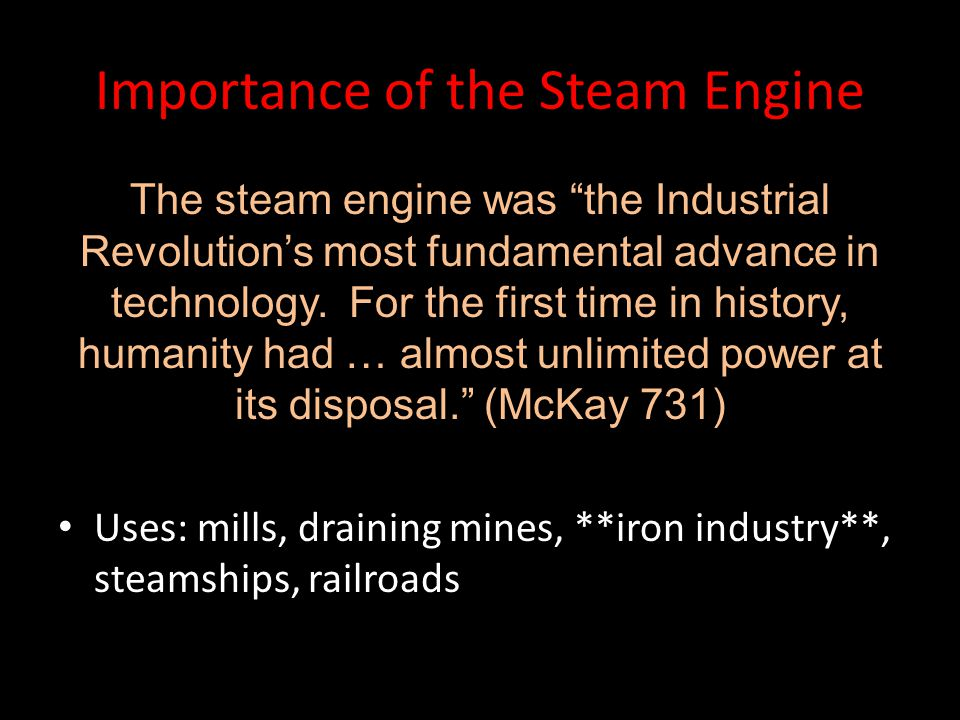 Importance of the Steam Engine