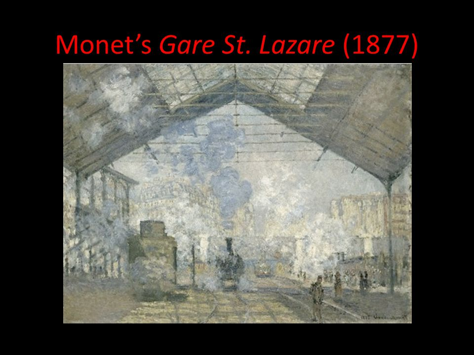 Monet's Gare St. Lazare (1877)