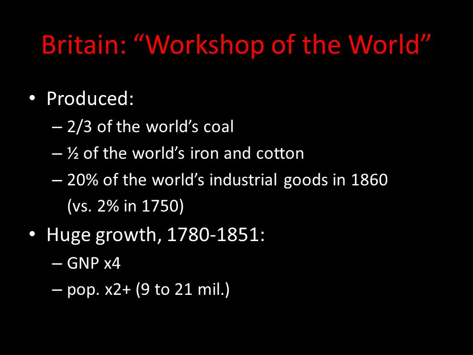 Britain: Workshop of the World
