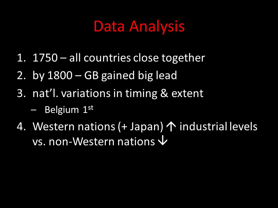 Data Analysis 1750 – all countries close together