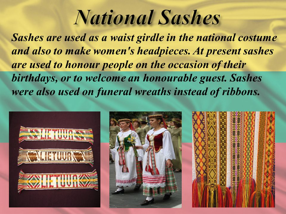 National Sashes