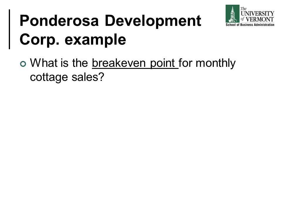 Ponderosa Development Corp. example