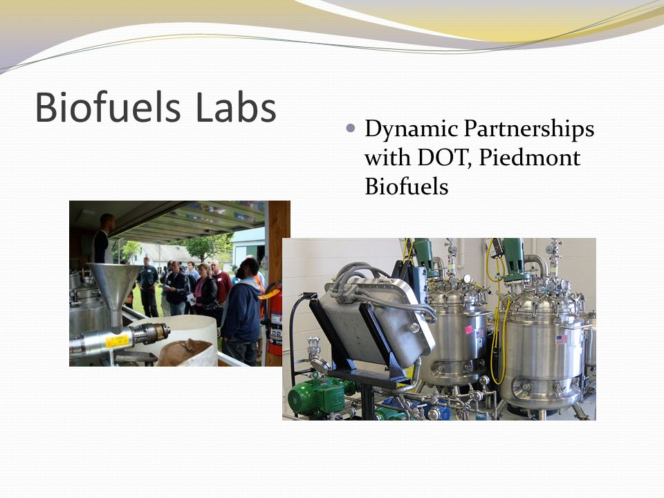Biofuels Labs Dynamic Partnerships with DOT, Piedmont Biofuels