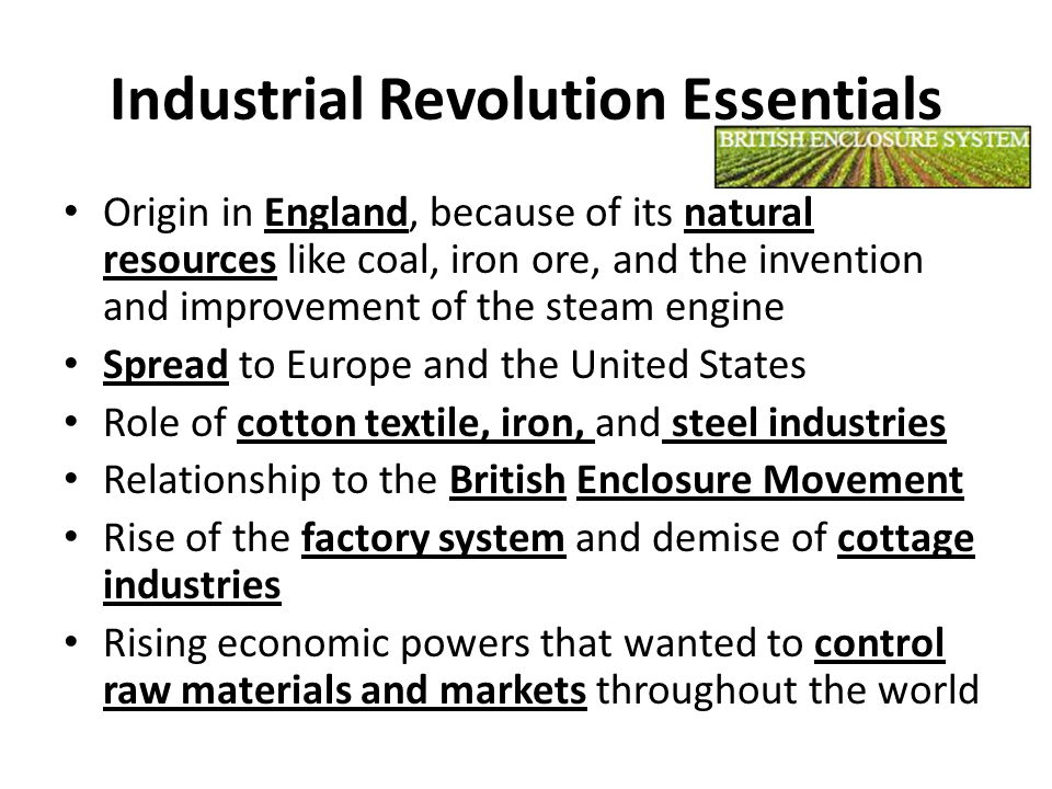 Industrial Revolution Essentials