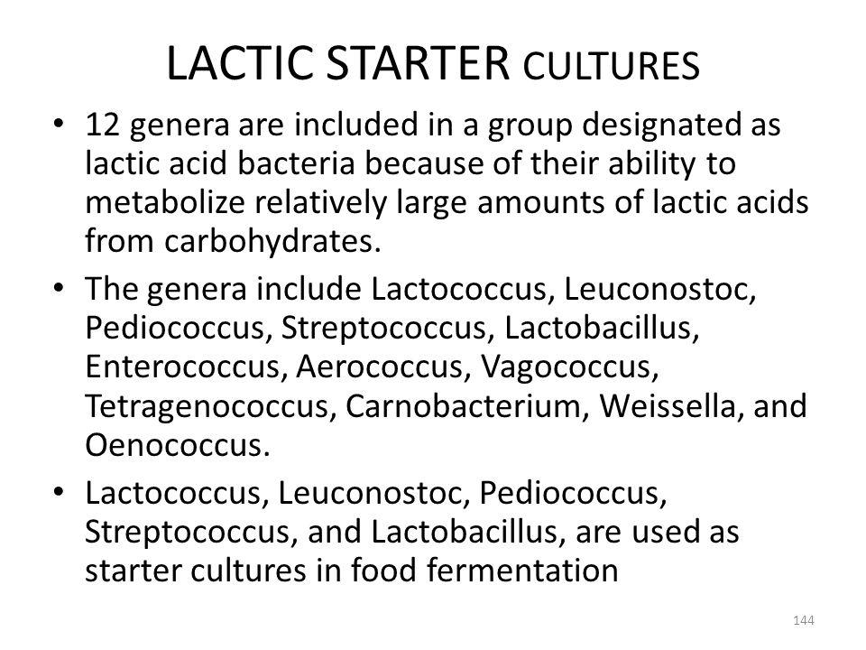 LACTIC STARTER CULTURES