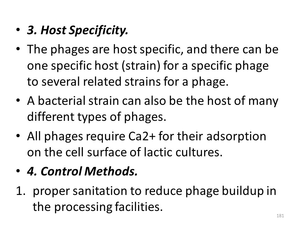 3. Host Specificity.