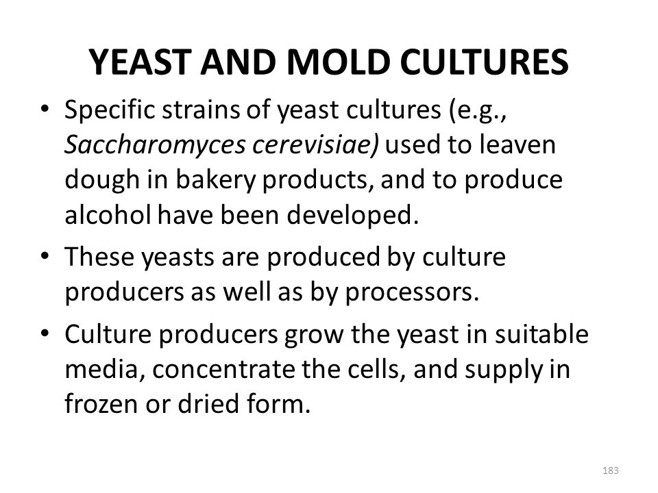 YEAST AND MOLD CULTURES