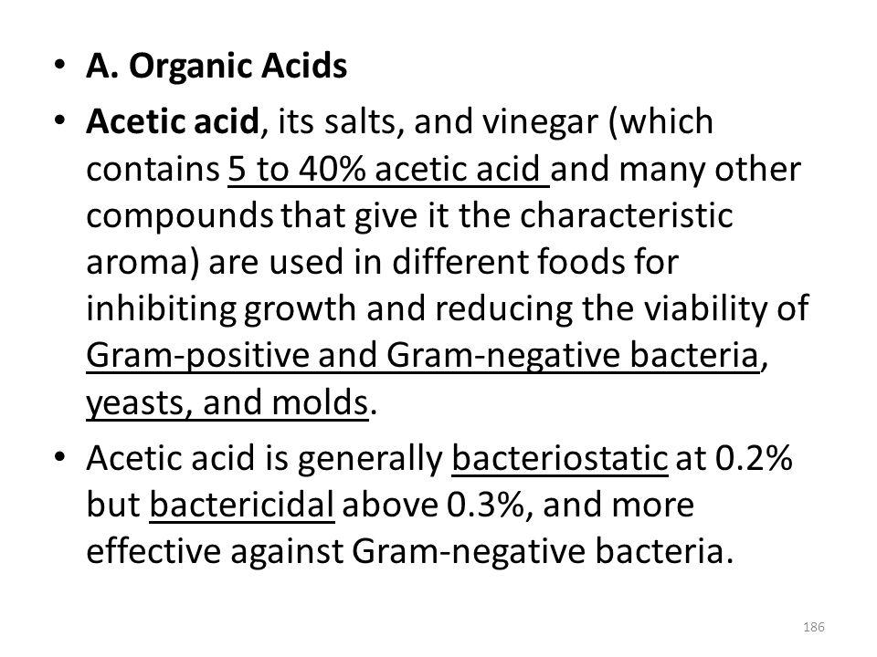 A. Organic Acids