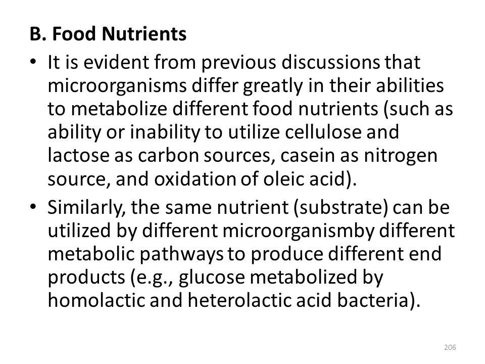 B. Food Nutrients