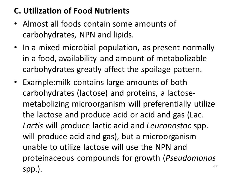 C. Utilization of Food Nutrients