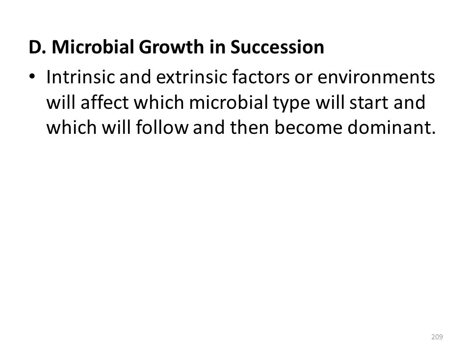 D. Microbial Growth in Succession