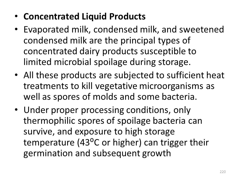 Concentrated Liquid Products