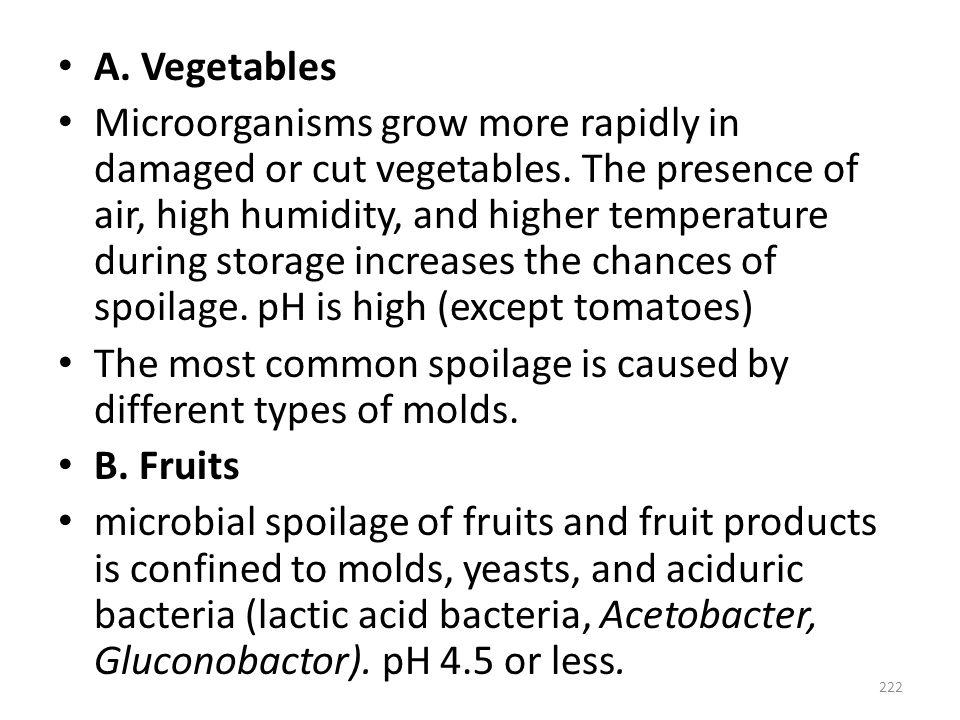 A. Vegetables