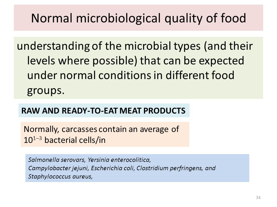 Normal microbiological quality of food