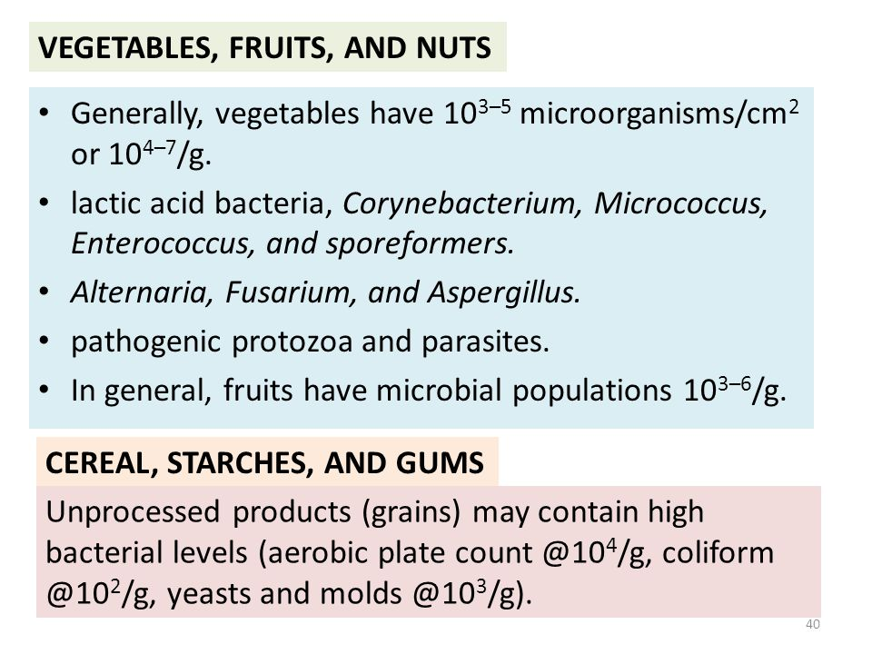 VEGETABLES, FRUITS, AND NUTS