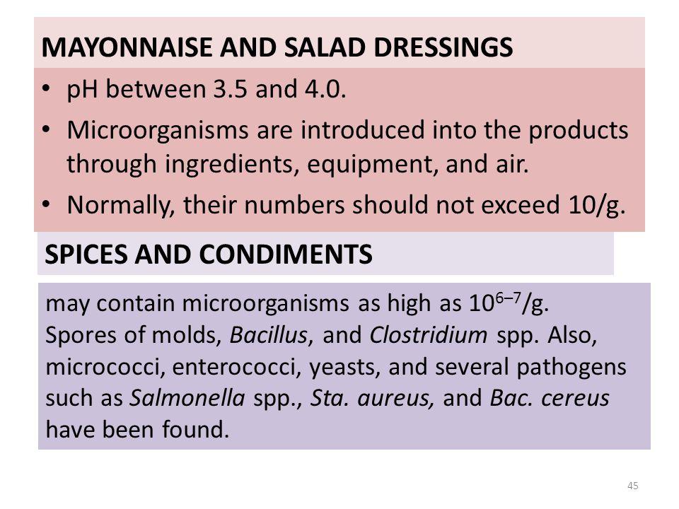 MAYONNAISE AND SALAD DRESSINGS