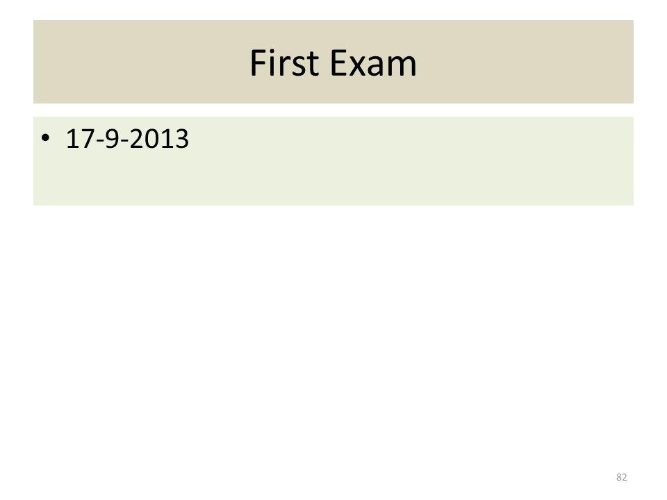 First Exam 17-9-2013