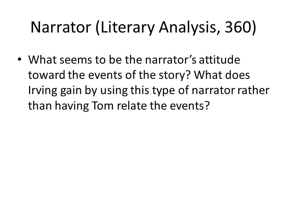 Narrator (Literary Analysis, 360)