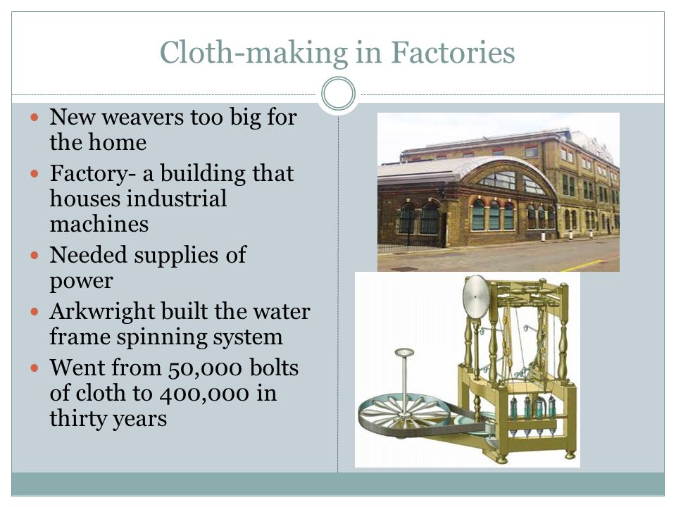 Cloth-making in Factories