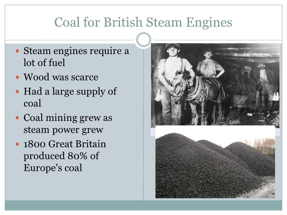 Coal for British Steam Engines