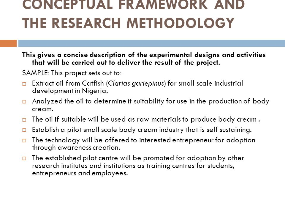 CONCEPTUAL FRAMEWORK AND THE RESEARCH METHODOLOGY