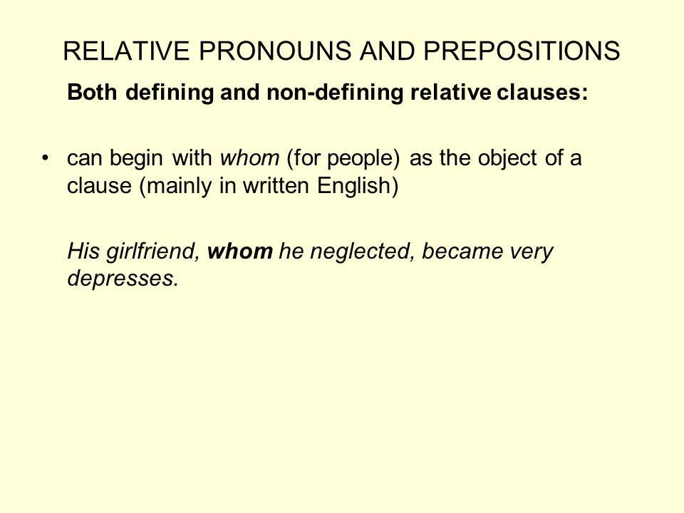 RELATIVE PRONOUNS AND PREPOSITIONS