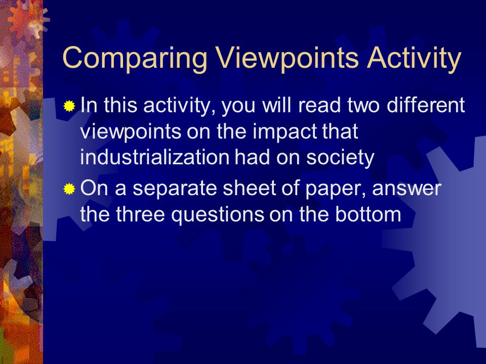 Comparing Viewpoints Activity