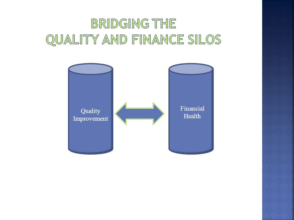 Bridging the Quality and Finance Silos