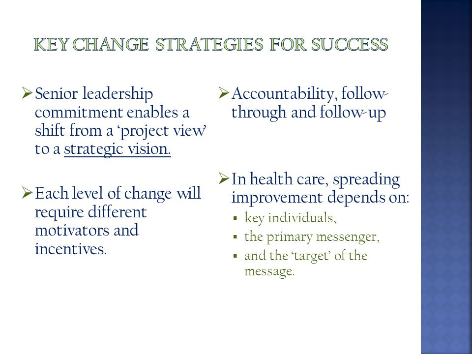 Key change strategies for success