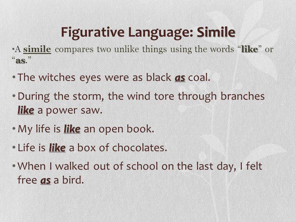 Figurative Language: Simile