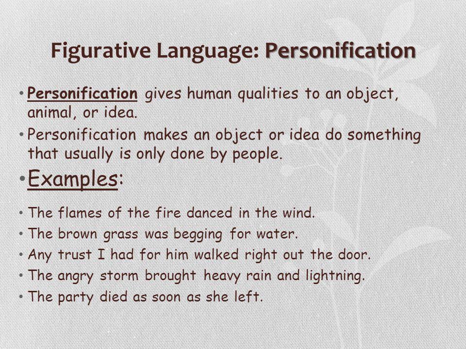 Figurative Language: Personification