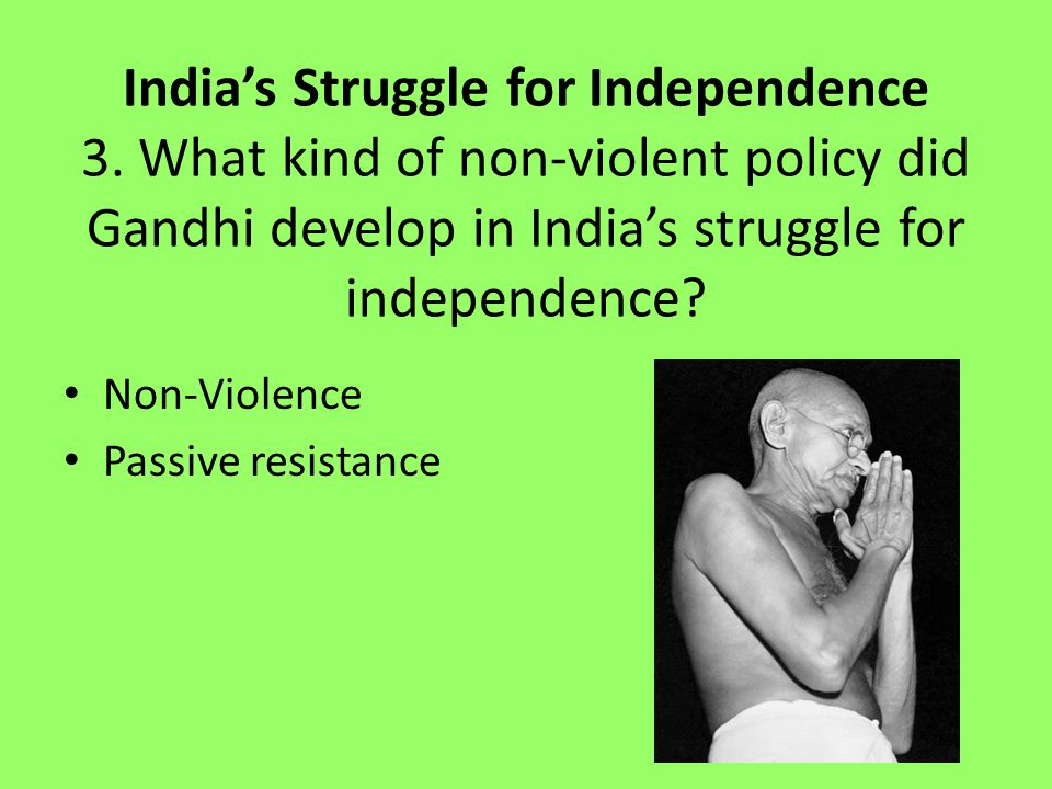 India's Struggle for Independence