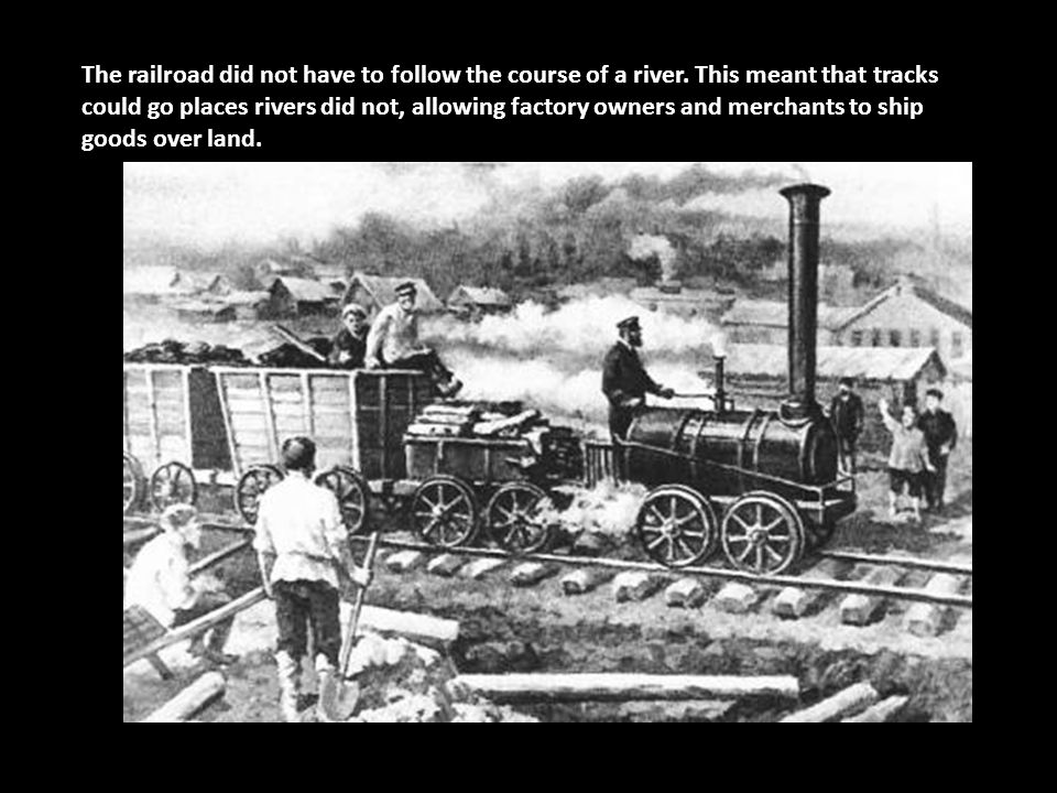 The railroad did not have to follow the course of a river