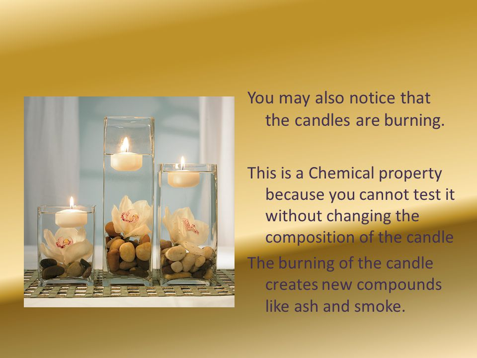 You may also notice that the candles are burning.