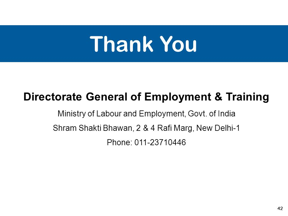 Directorate General of Employment & Training