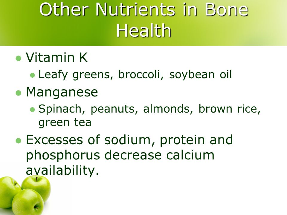 Other Nutrients in Bone Health