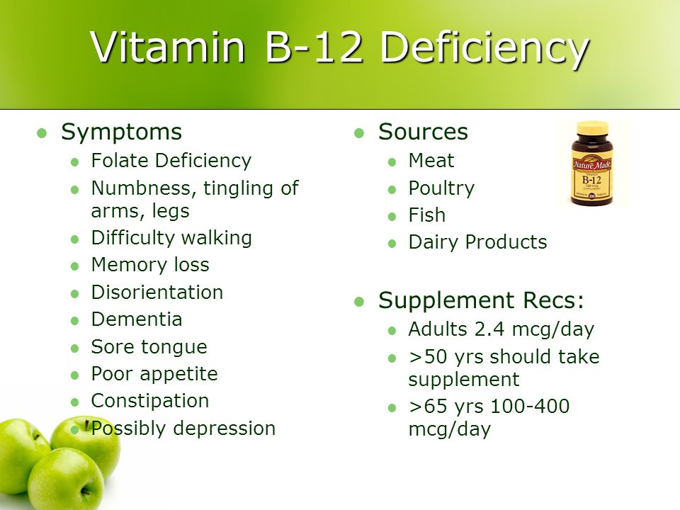 Vitamin B-12 Deficiency Symptoms Sources Supplement Recs: