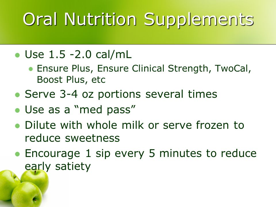 Oral Nutrition Supplements