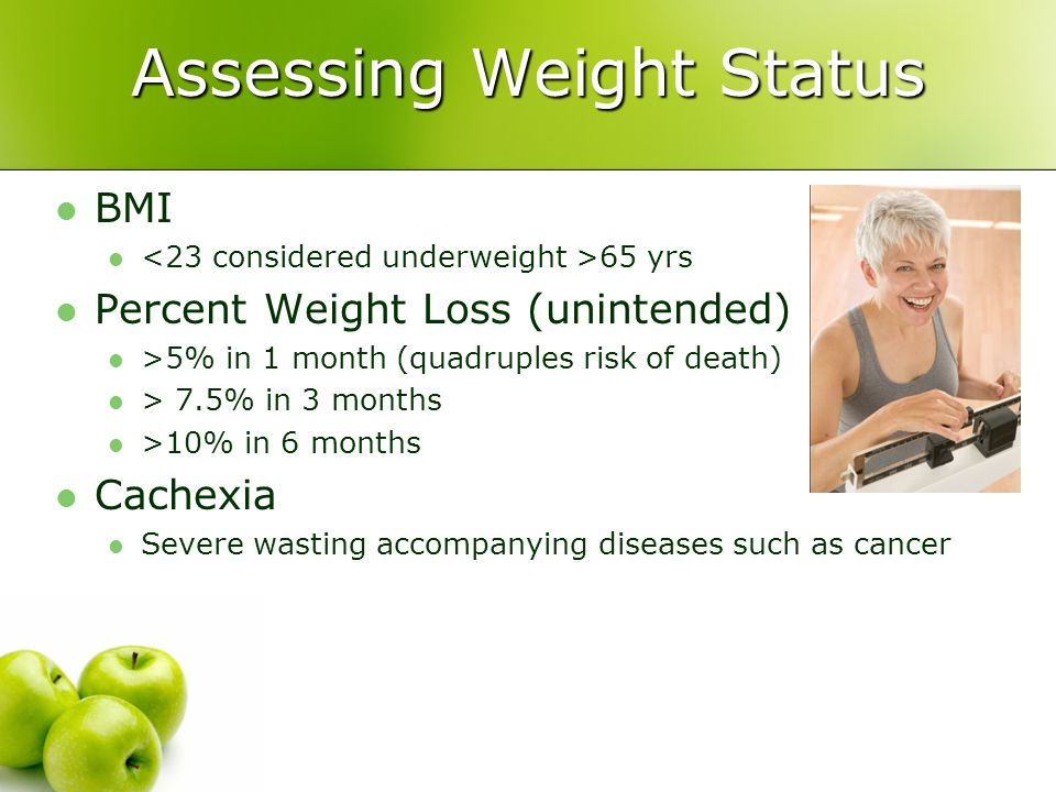 Assessing Weight Status