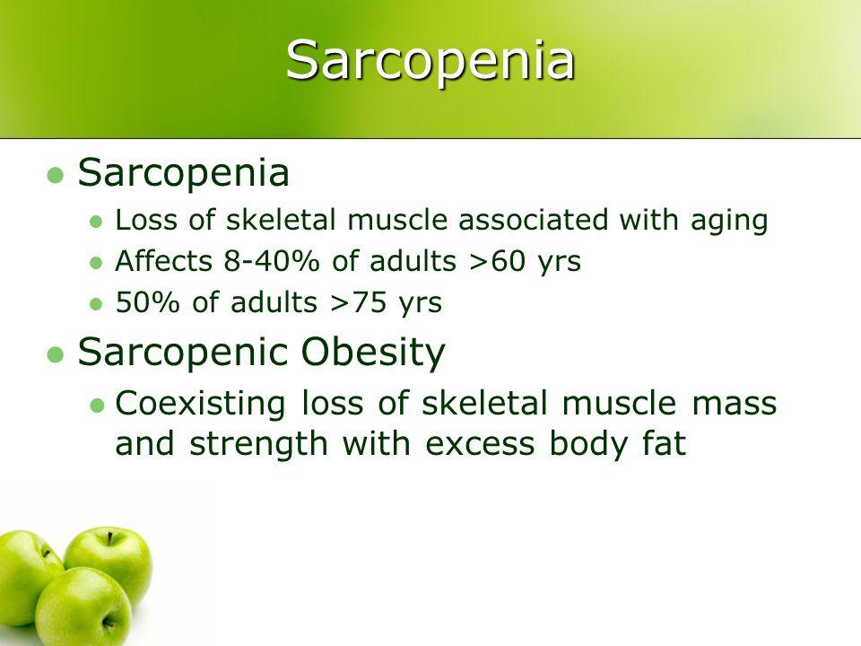 Sarcopenia Sarcopenia Sarcopenic Obesity