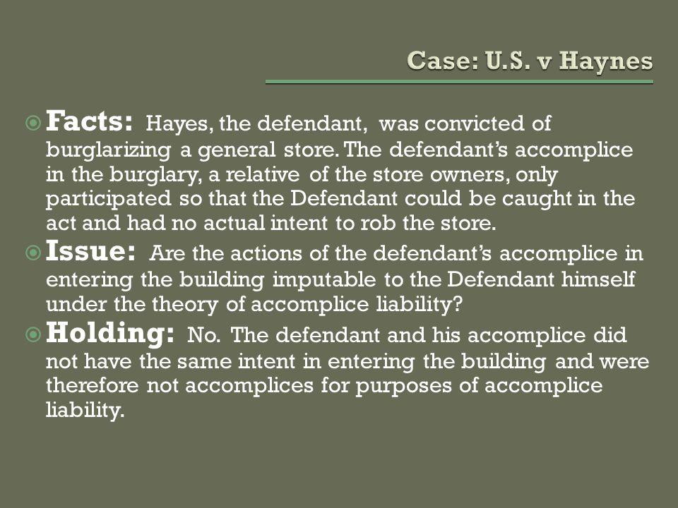 Case: U.S. v Haynes
