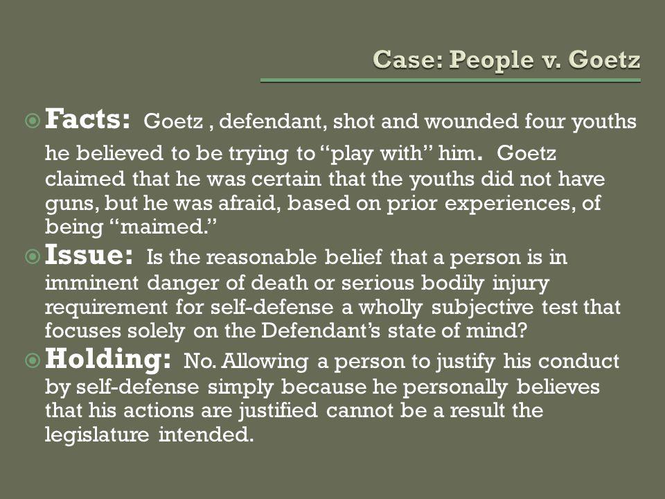 Case: People v. Goetz