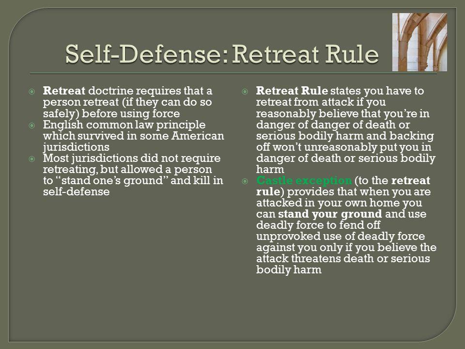 Self-Defense: Retreat Rule
